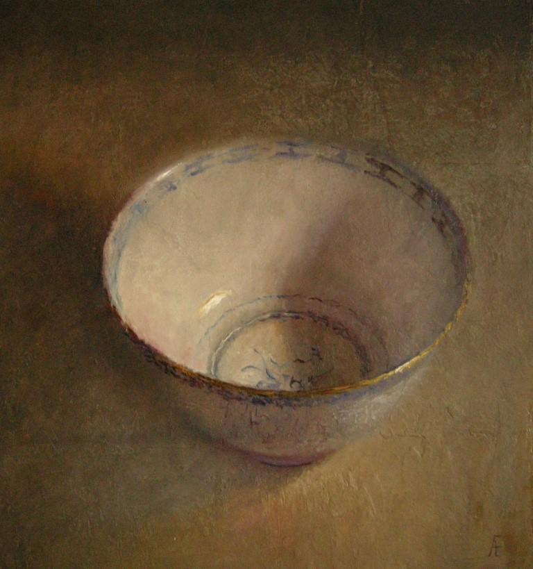 Schaaltje op paneel, olieverf op paneel, 48 x 45 cm