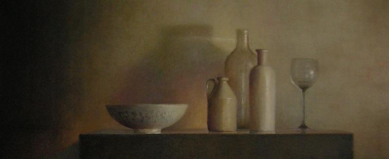 ANNEKE-ELHORST(177) glas, kom, flessen 50 x 120
