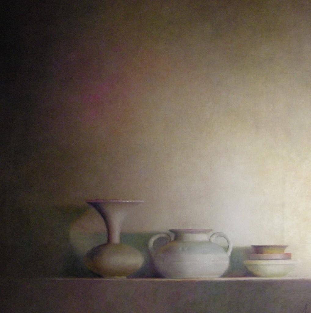 Aardewerk (238), olieverf op linnen, 100 x 100 cm