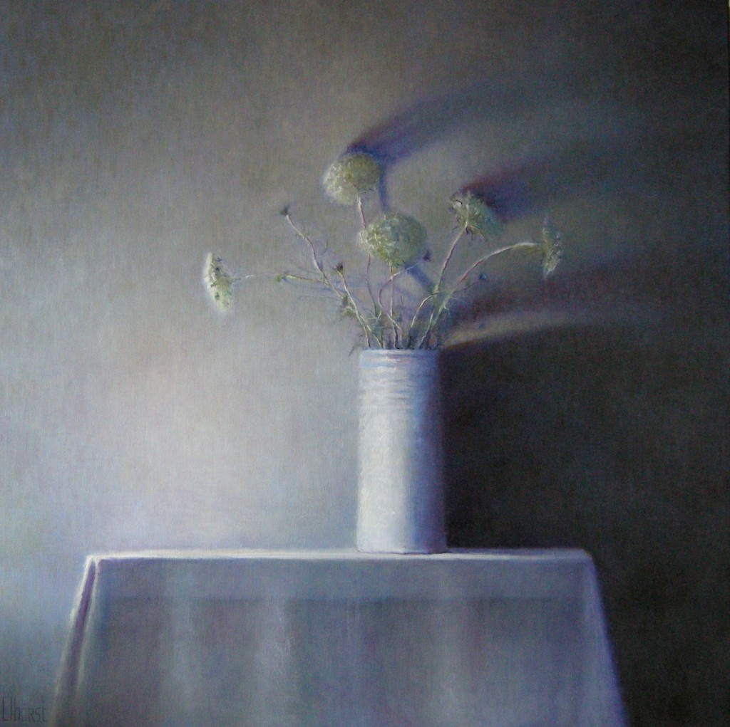 Amni Visnaga (80), olieverf op linnen, 120 x 120 cm, 2009