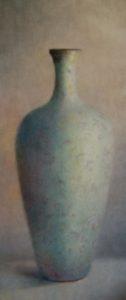 """Anneke Elhorst. """"Josje's Vaas"""", olieverf op linnen, 160 x 70 cm, 2010"""