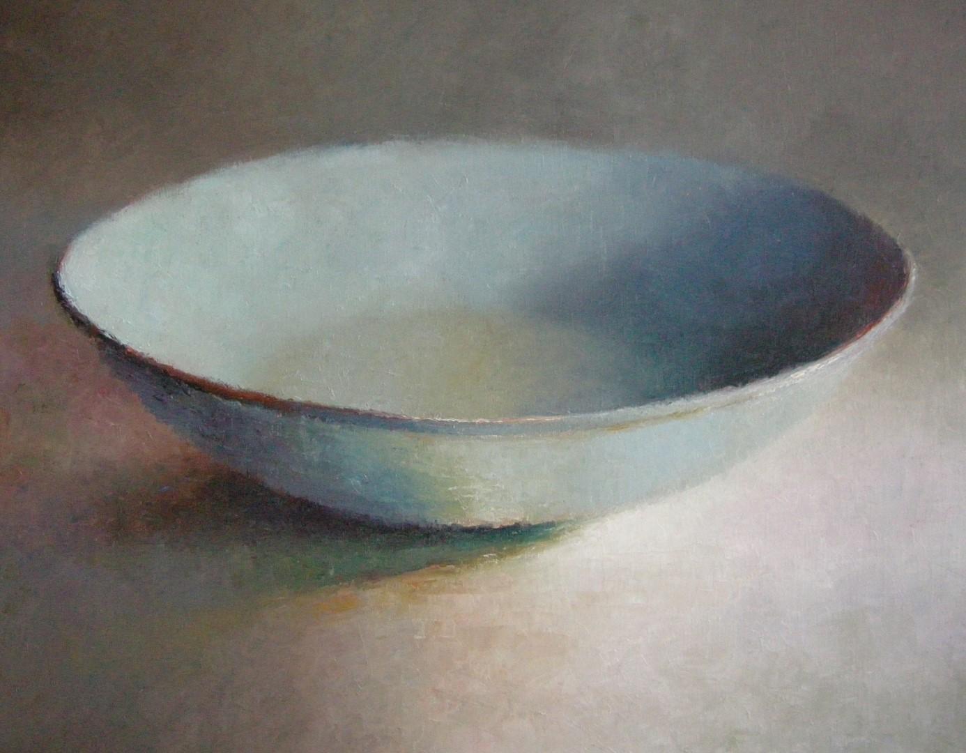 """Blauwe schaal"" (298), olieverf op linnen, 80 x 100cm"