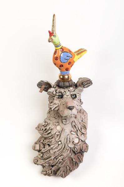 """Colored Birddog"", keramiek"