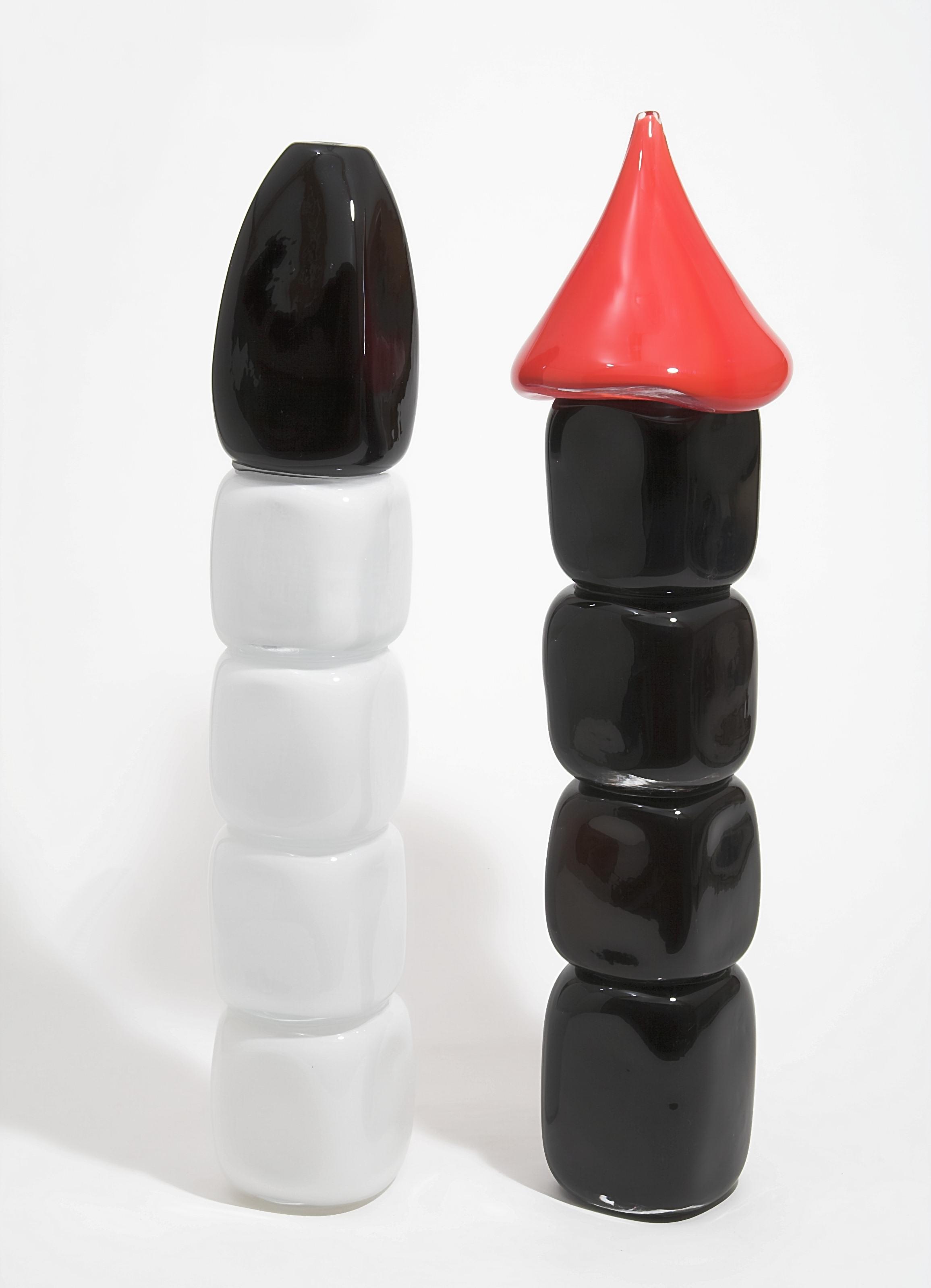 Stapel-zot, zwart-wit-rood, groot