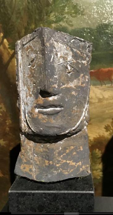 Portretje, brons, unicum, h25cm, incl. sokkel VERKOCHT