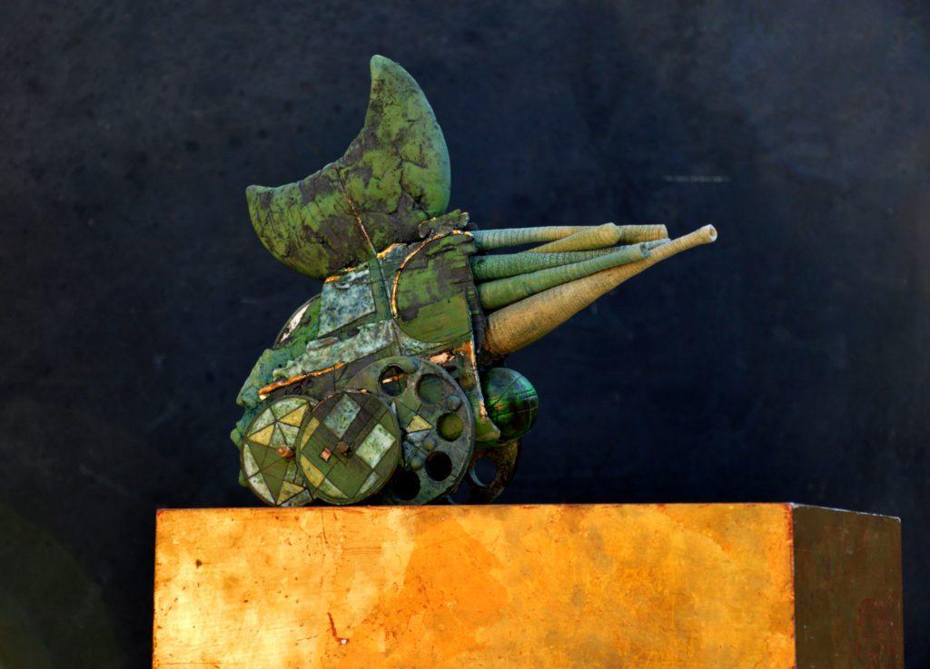 """""""Groene Maandrager"""", gemengde techniek, 2014"""
