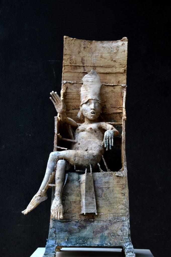 """""""Troon 3"""", gemengde techniek, ca. 75 cm, 2014"""