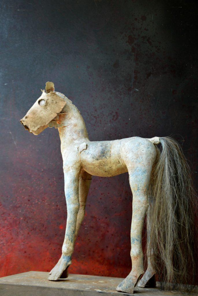 """""""Paard met masker"""", gemengde techniek"""